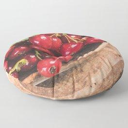 Red Fruits Floor Pillow