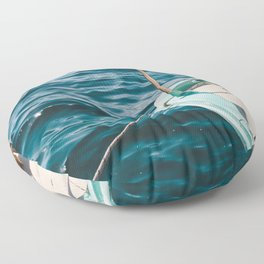 BOAT - WATER - SEA - PHOTOGRAPHY Floor Pillow