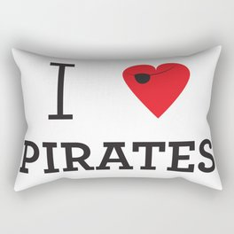 I heart Pirates Rectangular Pillow