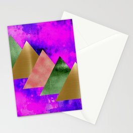 meta triangles Stationery Cards