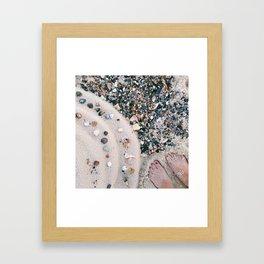Beachy Feet Framed Art Print