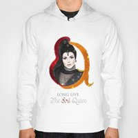 evil queen Hoodies featuring Regina, The Evil Queen by Clara J Aira