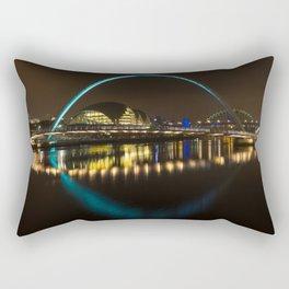 Newcastle bridges at night Rectangular Pillow