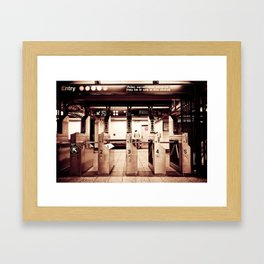 NY Subway Framed Art Print