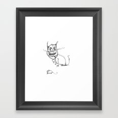 Ugly kitty Framed Art Print