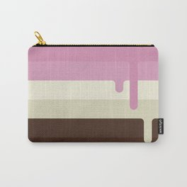 Dripping Neapolitan Ice Cream Carry-All Pouch
