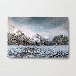 Yosemite Winter Wonderland Metal Print