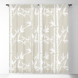 forest of bamboos Blackout Curtain