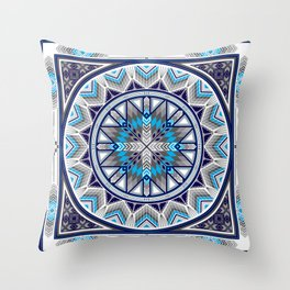 Sacred Places Blue Throw Pillow