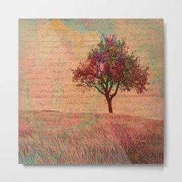 The Kissing Tree, Landscape Art Metal Print