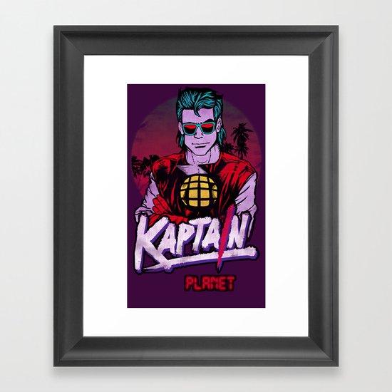 Kaptain Planet Framed Art Print