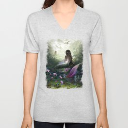 Little mermaid Unisex V-Neck