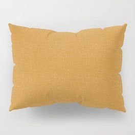 Simple solid mustard textured. Pillow Sham