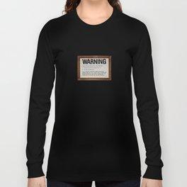 vintage warning sign Long Sleeve T-shirt