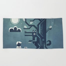 Midnight Menace Beach Towel