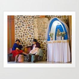 Bolivian women Art Print