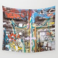 door Wall Tapestries featuring DOOR by  ECOLARTE