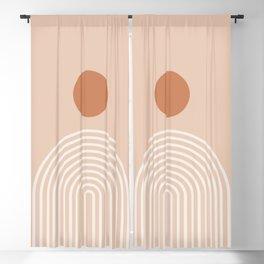 Minimalist Geometric Rainbow Print - midten av århundre, geometrisk veggkunst, abstrakt veggkunst, g Blackout Curtain