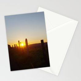 Walk in the evening Stationery Cards