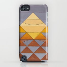 Pyramid Sun Mauve Purple iPhone Case