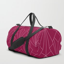 Art Deco in Raspberry Pink - Large Scale Duffle Bag