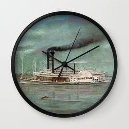 Steamboat Robert E. Lee Painting Wall Clock