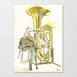 A big tuba Canvas Print