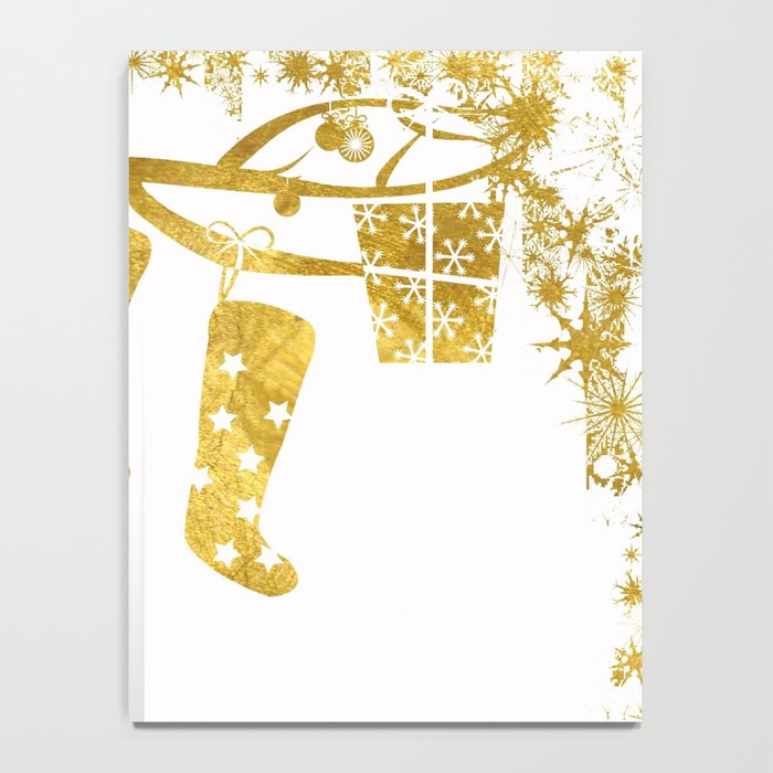 Gold Christmas 02 Notebook
