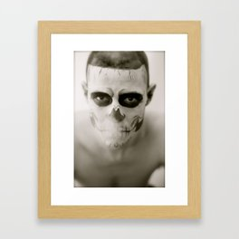 Fell In Love With Zombie Framed Art Print