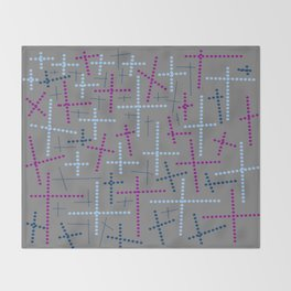 Croisement violet gris Throw Blanket
