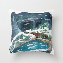 Duluth Lake Superior Landscape Throw Pillow