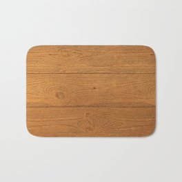 The Cabin Vintage Wood Grain Design Bath Mat