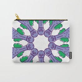 Mr Pecker Art Lavender & Green Carry-All Pouch
