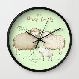The Sheep Family Wall Clock