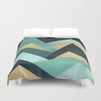 waves Duvet Covers featuring Waves by Elisabeth Fredriksson