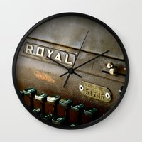 writer Wall Clocks featuring Writer  by Rick Staggs
