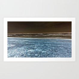 Negative Beach = Positive Vibe Art Print