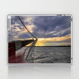 Sunset off the Bow Laptop & iPad Skin