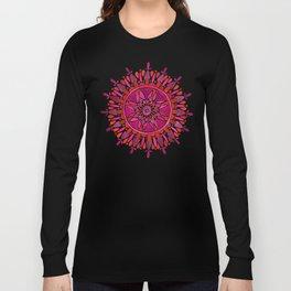 Magenta Mandala Long Sleeve T-shirt