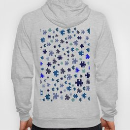 Jigsaw pieces of bluish colors. Hoody