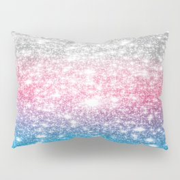 Galaxy Sparkle Stars Cotton Candy Pillow Sham