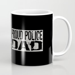 Police: Proud Dad (Thin Blue Line) Coffee Mug