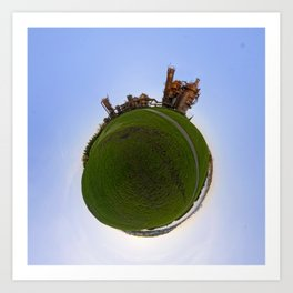 Gas Works Park Tiny Planet Art Print