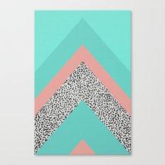 90s Chevron Canvas Print