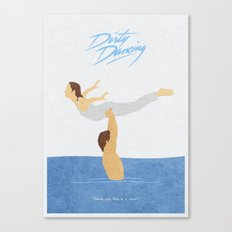 Dirty Dancing Alternative Minimalist Movie Poster Canvas Print