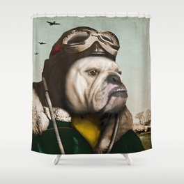 "Wing Commander, Benton ""Bulldog"" Bailey of the RAF Shower Curtain"