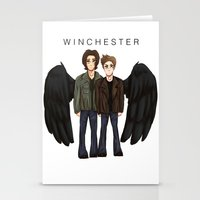 supernatural Stationery Cards featuring supernatural by f5ver