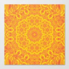 vibrant golden yellow mandala Canvas Print