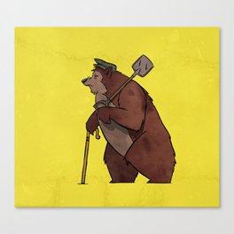 Worker Bear Canvas Print