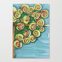 plant Canvas Prints featuring plant by Onde di Tela by Antonella Franco